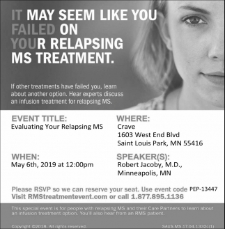 It May Seem Like You Failed On Your Relapsing MS Treatment