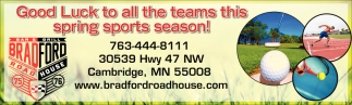 Good Luck to All the Teams this Spring Sports Season!