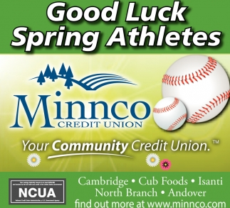 Good Luck Spring Athletes