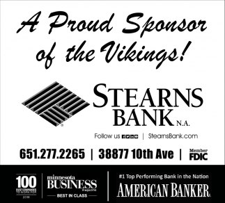 A Proud Sponsor of the Vikings!