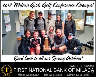 2018 Milaca Girls Golf Conference Champs!