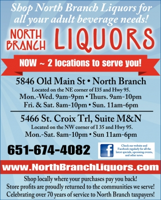 Shop North Branch Liquors for All Your Adult Beverage Needs!