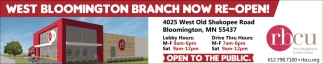 West Bloomington Branch Now Re-Open!
