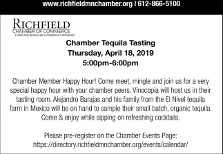 Chamber Tequila Tasting