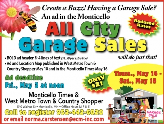 All City Garage Sales
