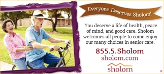 Everyone Deserves Sholom!