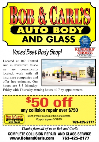 Voted Best Body Shop!