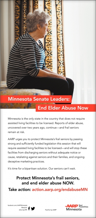 Minnesota Seante Leaders: End Elder Abuse Now