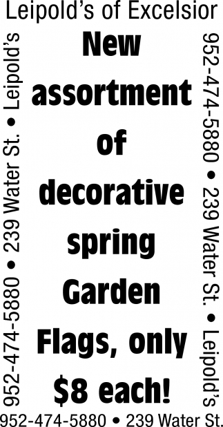 New Assortment of Decorative Spring Garden
