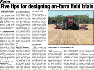 Five Tips for Designing On-farm Fields Trials