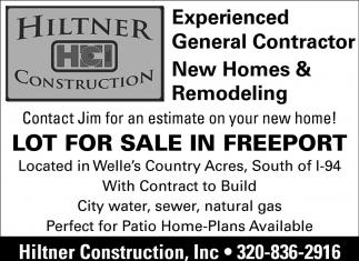 Experienced General Contractor