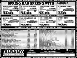 Spring Has Sprung with Albany Chrysler