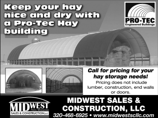 Keep Your Hay Nice and Dry with a Pro-Tec Hay Building