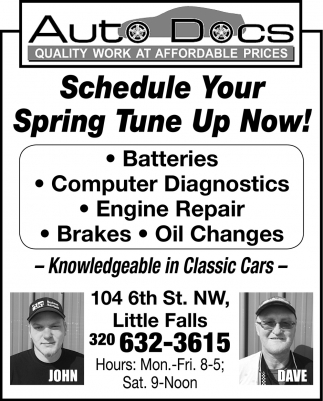 Schedule Your Spring Tune Up Now!