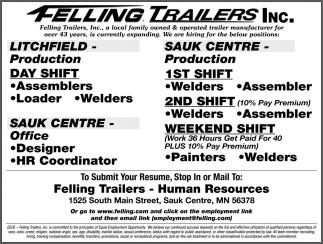 Felling Trailers Inc