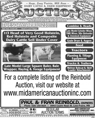 Dairy Cattle & Farm Equipment Auction