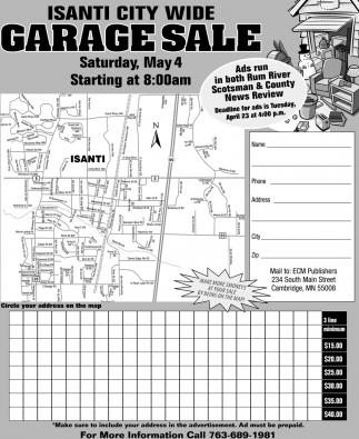 Isanti City Wide Garage Sale