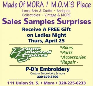 Sales Samples Surprises
