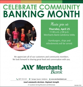 Celebrate Community Banking Month