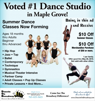 Voted #1 Dance Studio in Maple Grove!