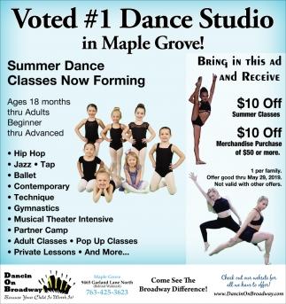 Voted #1 Dance Studio in Maple Grove!