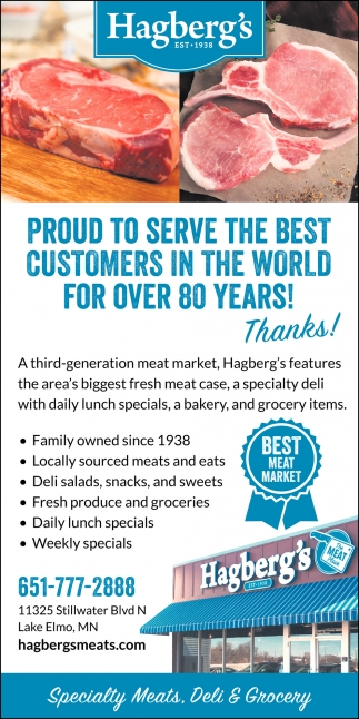 Proud to Serve the Best Customers in the World for Over 80 Years!
