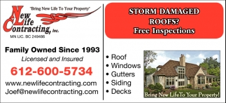 Storm Damaged Roofs?