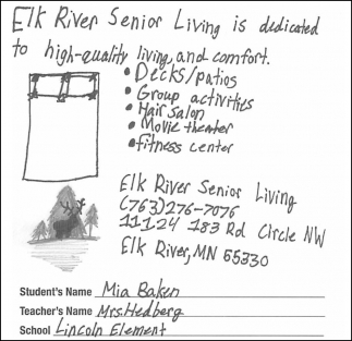 Elk River Senior Living is Dedicated to High-Quality Living and Comfort