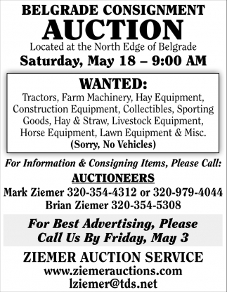 Belgrade Consignment Auction