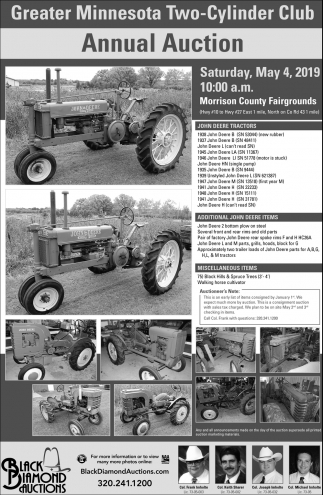 Greater Minnesota Two-Cylinder Club Annual Auction
