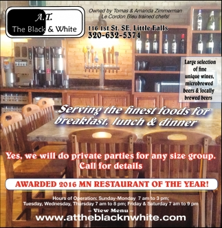 Awarded 2016 MN Restaurant of the Year!