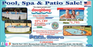Pool, Spa & Patio Sale