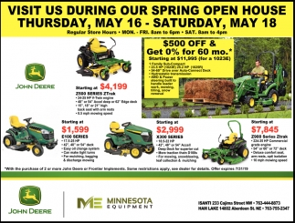 Visit Us During Our Spring Open House