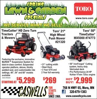Spring Lawn & Garden Specials