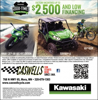 Factory Incentives Up to $2,500 and Low Financing