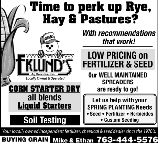 Let Us Help with Your Spring Planting Needs