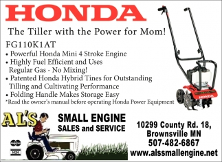 The Tiller with the Power for Mom!