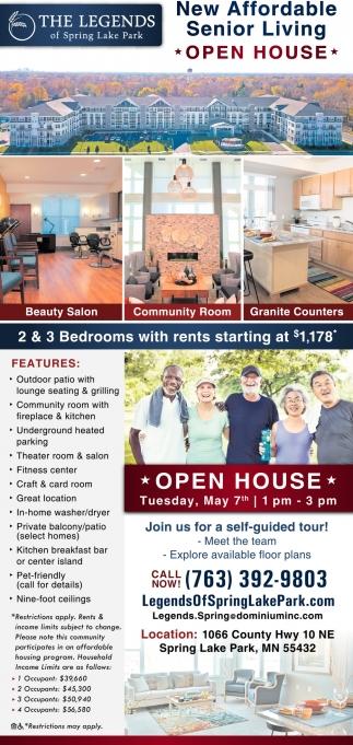New Affordable Senior Living Open House