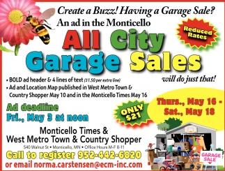 All City Garage Sales, Monticello Times, Eden Prairie, MN