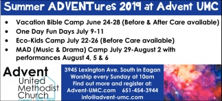 Summer Advetures 2019 at Advent UMC