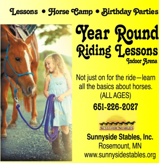Year Round Riding Lessons