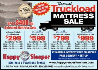 National Truckload Mattress Sale