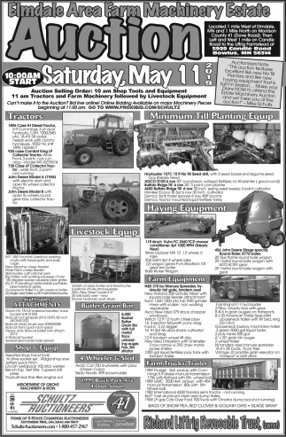 Elmdale Area Farm Machinery Estate Auction