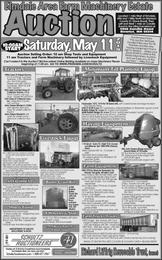 Elmdale Area Farm Machinery Estate Auction