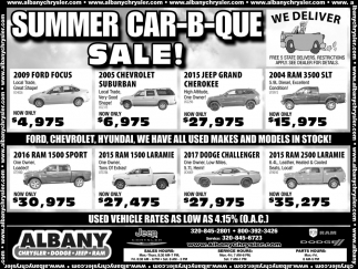 Summer Car-B-Que- Sale