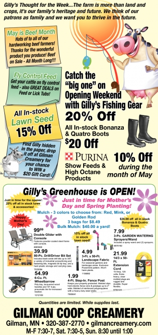 Gilly's Greenhouse is Open!