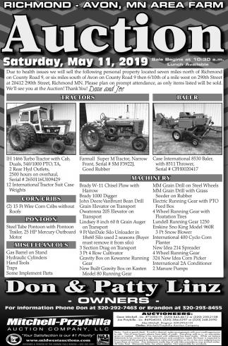 Richmond - Avon, MN Area Farm Auction