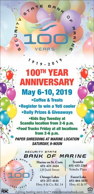 100th Year Anniversary