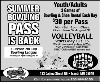 Summer Bowling Pass is Back