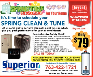 It's time to Schedule Your Spring Clean & Tune